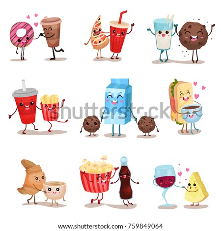 cute funny food and drink