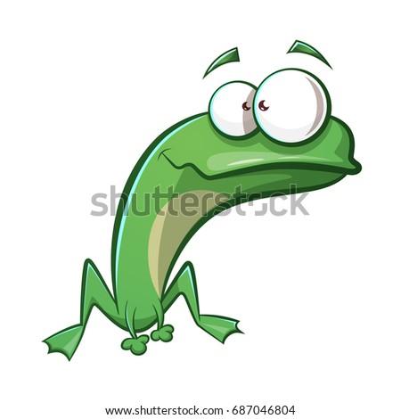 cute  funny frog cartoon vector