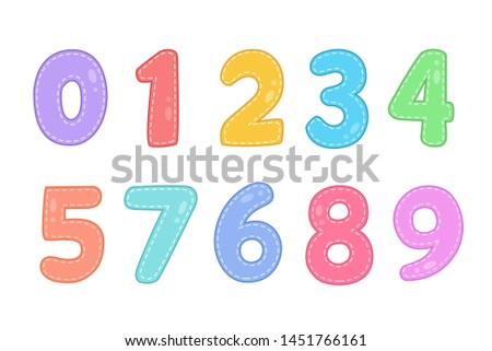 cute funny numbers vector