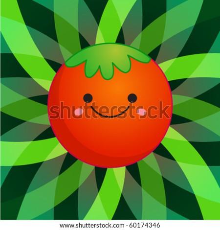 cute funny tomato