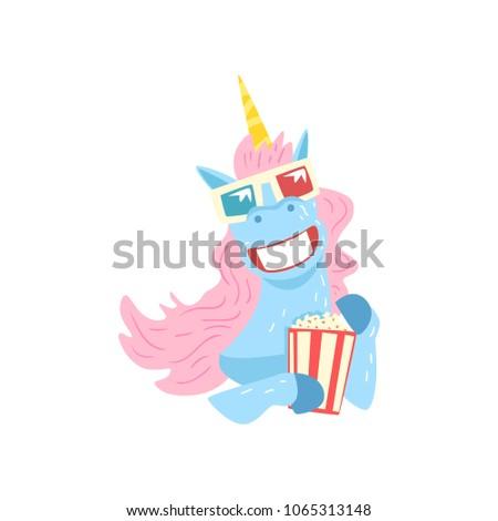 cute funny unicorn character