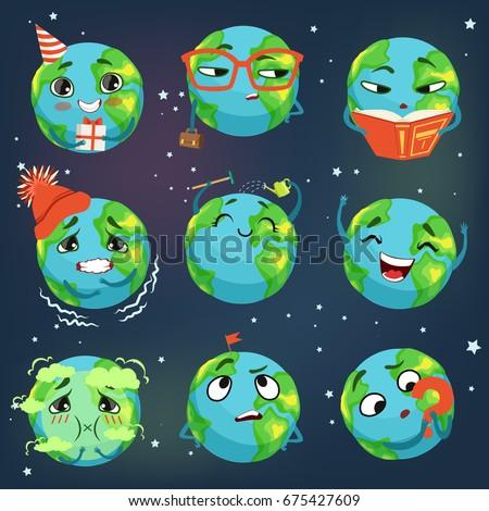 cute funny world earth emoji