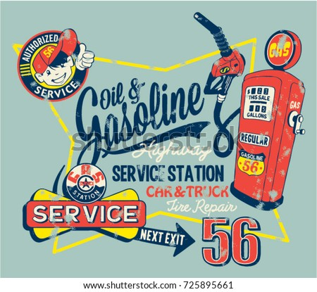 cute garage gasoline service...
