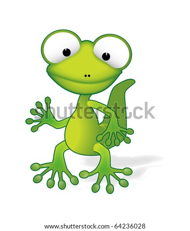 Cute gecko vector  eps10  - stock vectorCute Lizard Drawing