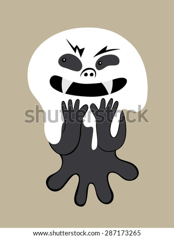 cute ghost cartoon  art vector