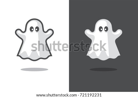 cute ghost icon isolated on
