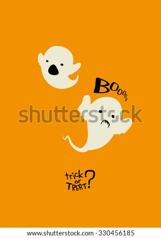 cute ghosts vector illustration