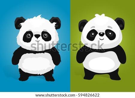 cute giant panda illustrations