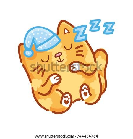 cute ginger cat  sleeping