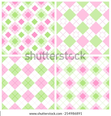 cute gingham   argyle pattern