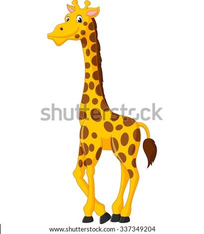 Cute giraffe cartoon of illustration