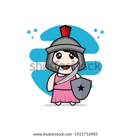 cute girl character wearing