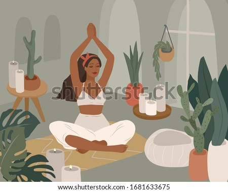 cute girl doing yoga poses