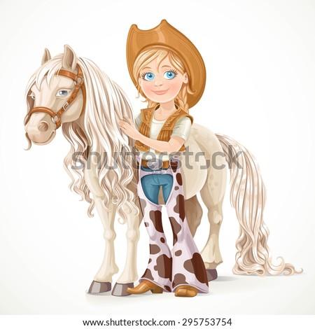 cute girl dressed as a cowboy