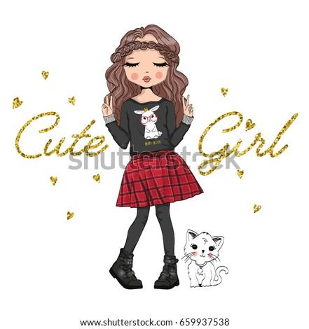cute girl,fashion girl,romantic girl