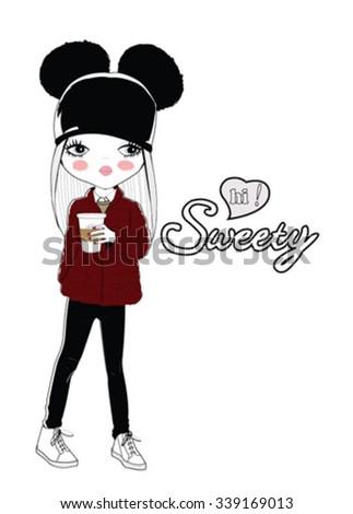 cute girl hi sweetie