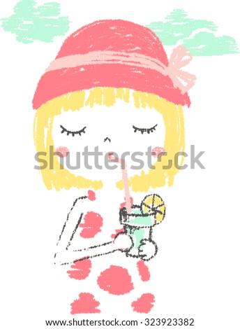 cute girl illustrationfor