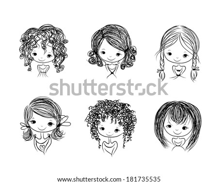 Cute Girl Pigtails Hair Brushes Free Photoshop Brushes At Brusheezy