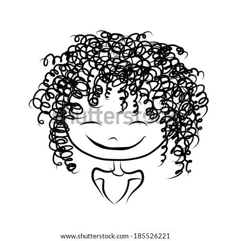 Cute Girl Drawings Cute Girl Smiling Sketch For