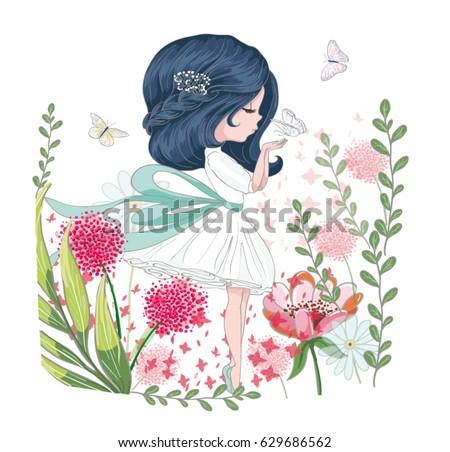 cute girl vectorchildren