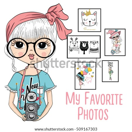 cute girl with camera