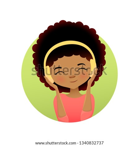 cute girl with headphones