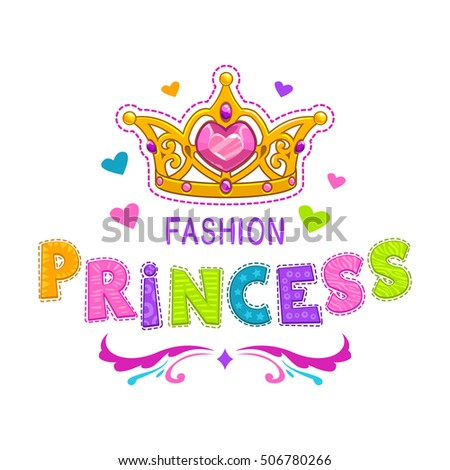 Royalty Free Stock Photos And Images Cute Girlish Illustration - T shirt graphic design template