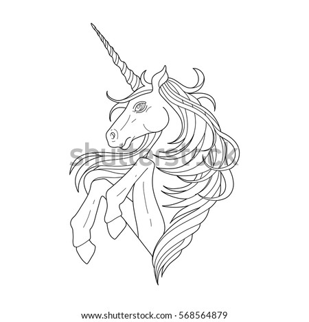 cute graphic unicorn isolated