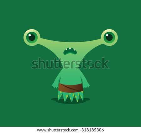 cute green alien
