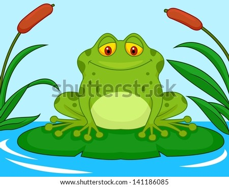 Frog Lily Pad Problem Frog Cartoon on a Lily Pad