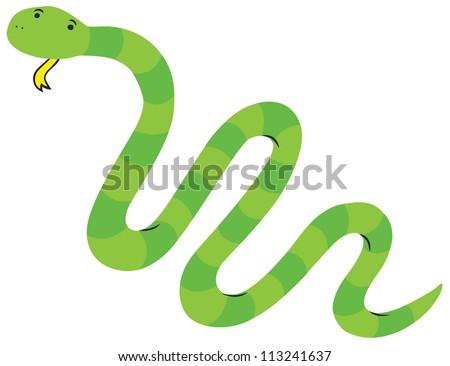 cute green grass snake