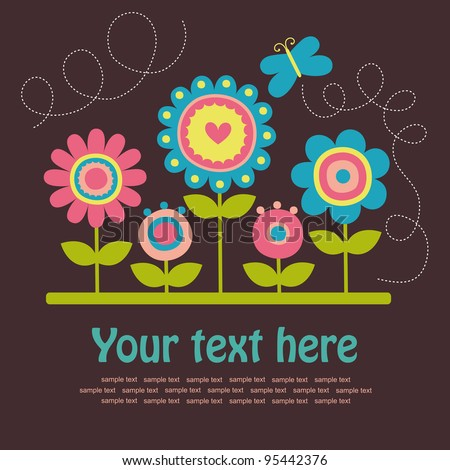 cute greeting card vector illustration