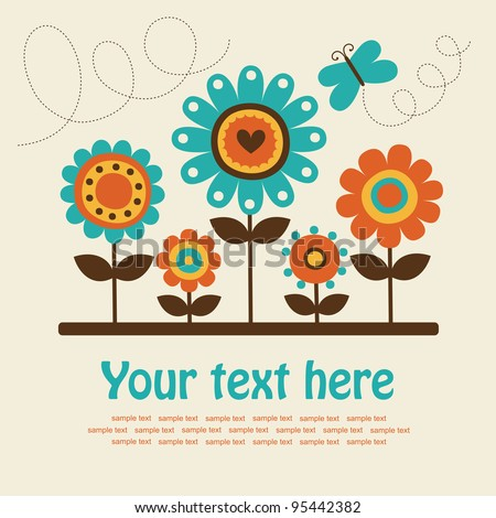 cute greeting card. vector illustration