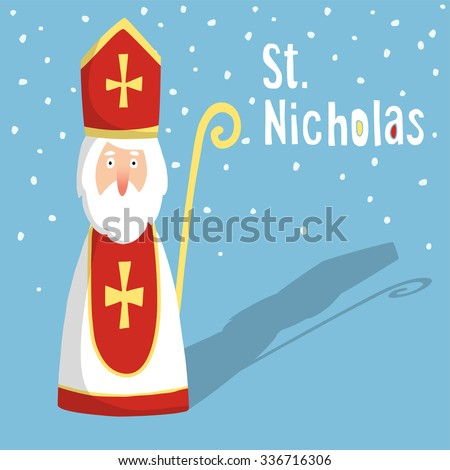 cute greeting card with saint