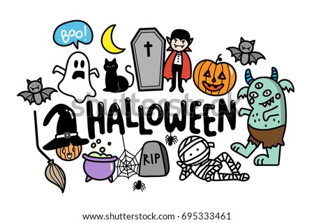 Cute Halloween Icons - Download Free Vector Art, Stock Graphics ...