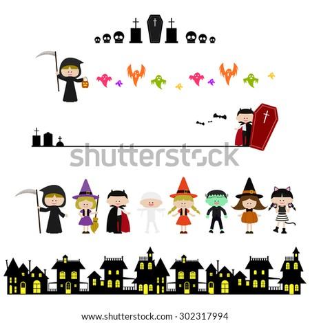 cute halloween illustration