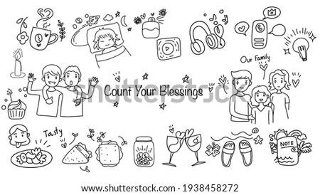 cute hand draw doodle cartoon