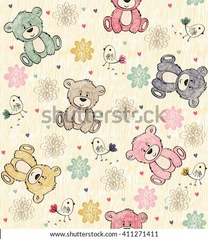 cute hand draw seamless pattern