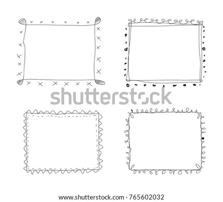 cute hand drawing frame - Drawing Frame