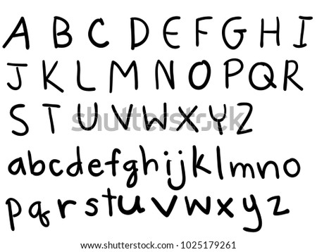 Cute Hand Drawn Alphabet ABC Funky Letters Children