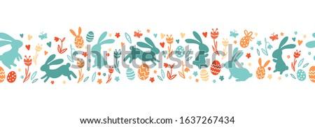 cute hand drawn easter bunnies