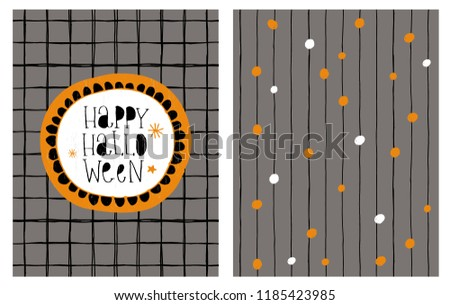 stock-vector-cute-hand-drawn-happy-halloween-vector-card-and-irregular-pattern-hand-written-black-letters-dark