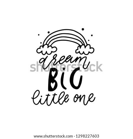 cute hand drawn nursery poster