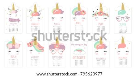 cute hand drawn unicorn