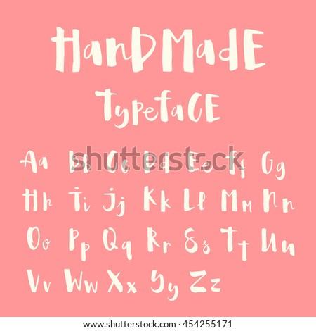 cute handmade typeface