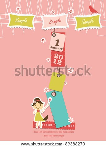 Cute hanging tag design