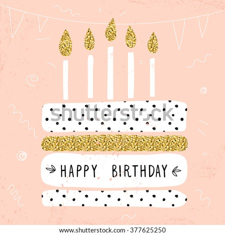 cute happy birthday card with