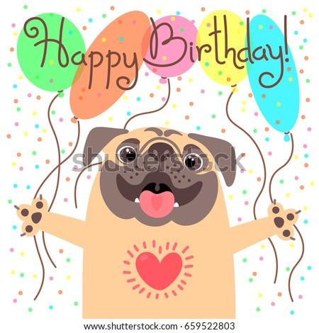 cute happy birthday card with