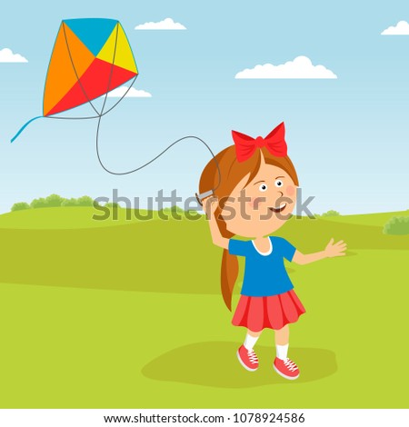 cute happy child girl with a