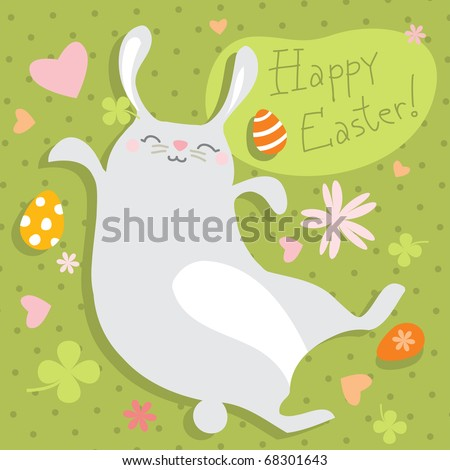 cute happy easter images. stock vector : cute happy